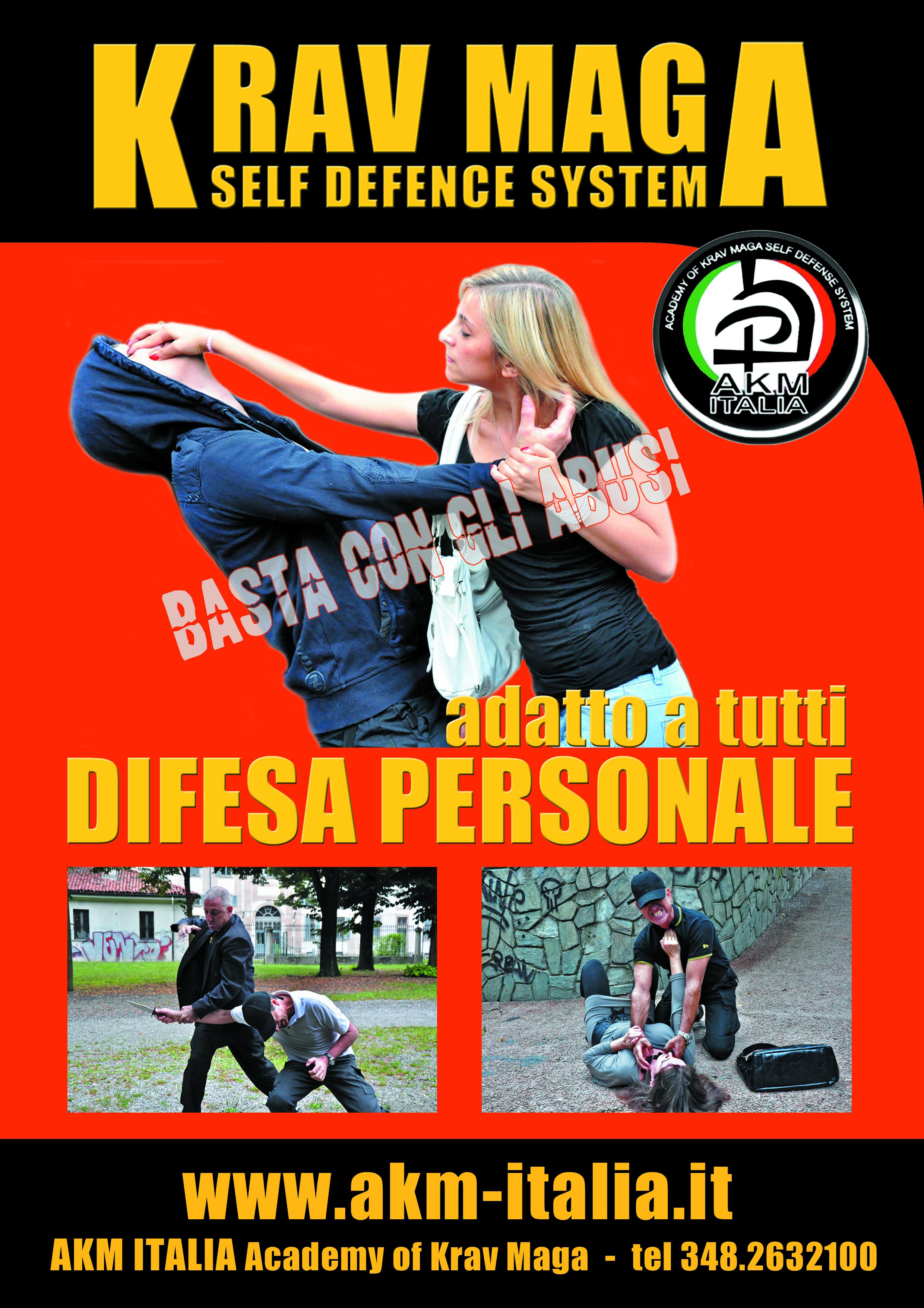 Seconda edizione Progetto AKM ITALIA Antiaggresssione Femminile Metodo Krav Maga